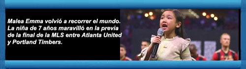 VIDEO: Una niña de 7 años conmovió con su interpretación del himno de EEUU en la final de la MLS. cubademocraciayvida.org web/folder.asp?folderID=136