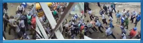 Kuba: Video visar stort polisuppbåd och överfall mot 50 fredliga män som marscherade för fred och demokrati i östra Kuba den 2 december 2011.web/folder.asp?folderID=176