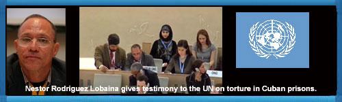 F d kubansk politisk fånge vittnar om tortyr i Kubas fängelser inför FN Kommittén för Mänskliga Rättigheter, som uppmanas av tjugo NGOs att utesluta Kuba ur kommittén. Av Eva Belfrage.web/folder.asp?folderID=215