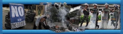 VENEZUELA: Crónica desesperada desde las calles de Caracas a 7 días de la elección para reformar la Constitución. Por María Angélica Correa. cubademocraciayvida.org web/folder.asp?folderID=136