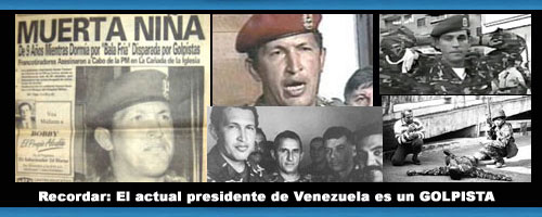 LAS FOTOS QUE EL MILITAR GOLPISTA HUGO CHAVEZ NO QUIERE QUE VEAS: El Golpista Fracasado resentido... No Olvidar Jamás... Recordar: El actual presidente de Venezuela es un VERDADERO GOLPISTA 100%.