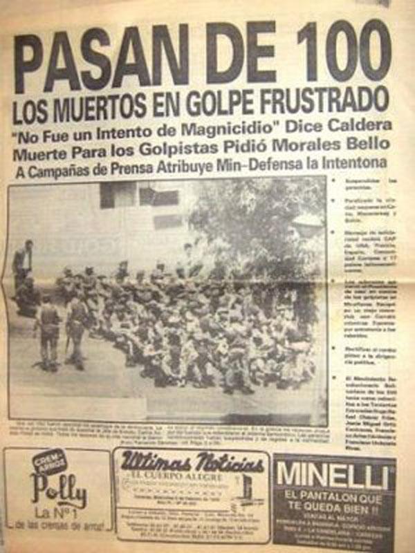 LAS FOTOS QUE EL MILITAR GOLPISTA HUGO CHAVEZ NO QUIERE QUE VEAS: El Golpista Fracasado resentido... No Olvidar Jamás...
