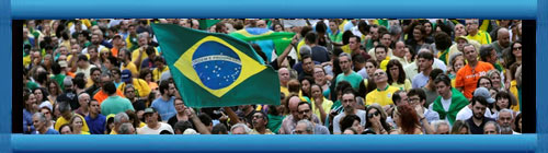 BRASIL: Miles de personas protestaron en Brasil contra la liberación de Lula da Silva La marcha, dominada por los colores verde y amarillo de la bandera brasileña, fue convocada en más de 70 ciudades por la organización Vem Pra Rua. cubademocraciayvida.org web/folder.asp?folderID=136