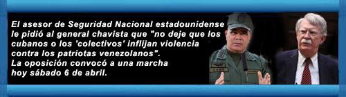 El mensaje de John Bolton a Vladimir Padrino López antes de la masiva manifestación en Venezuela: Todos los ojos están sobre ti hoy. cubademocraciayvida.org web/folder.asp?folderID=136