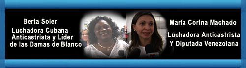 CUBA VENEZUELA AUDIO: Machado comienza viaje para hablar en la OEA y se encuentra con Berta Soler.  web/folder.asp?folderID=136