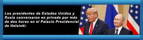 """Donald Trump, tras la reunión con Vladimir Putin: """"Tuvimos un diálogo directo y profundamente productivo"""". cubademocraciayvida.org web/folder.asp?folderID=136"""