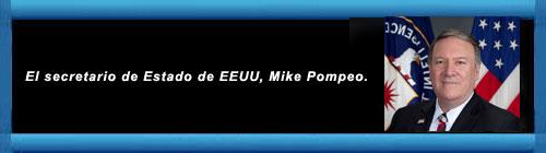 """VENEZUELA. Mike Pompeo habló sobre la presencia de militares rusos en Venezuela: """"EE.UU tiene sus respuestas preparadas"""". cubademocraciayvida.org web/folder.asp?folderID=136"""